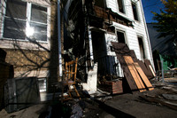 Aftermath of fire on 900 block of Genesee Street