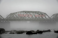 Fog shrouds the Delaware