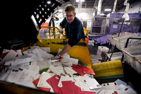 Holiday mail rush at Trenton Processing & Distribution Center