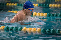 High School boys swimming, Steinert at West Windsor South 2015-1