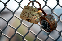 Love Locks accumulating over I-295 in Bordentown