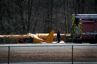 Small plane crashes off runway in Robbinsville