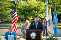 Flag decommissioning ceremony in Veterans Park