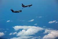 Mid-air refueling combat exercise out of Joint Base MDL