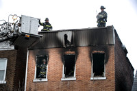 Trenton firefighters at work on the 1100 block of East State St