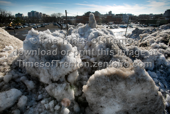 "State plowed snow dumped into ""Mt. Allen"" in Trenton"