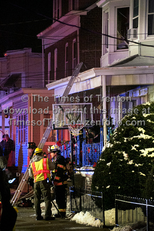 House fire in south Trenton