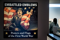 Exhibit showcases posters and flags to engender support for WWI