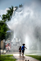 Trenton firefighters provide cooling rain for locals