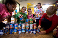 "Students at Alexander School in Hamilton conduct ""Souper Bowl Soup Drive"""