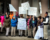 Foundation Academy Charter School students demonstrate at state house in Trenton