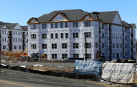 Two of four buildings near completion at Rivergate in Bordentown