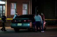 Trenton police investigate the scene of a multiple shooting on M