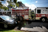 Trenton firefighters respond to a call on Commonwealth Avenue