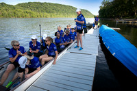 Dragon Boat rowing team practices in New Hope, Pa.