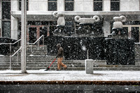 Snowfall is picturesque, not problematic