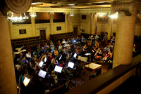 The New Jersey Capital Philharmonic Orchestra practices in advance of their concert 10/20/2014