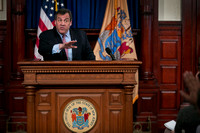 Chris Christie holds second Statehouse news conference of the we