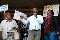 Crowd protests the closing of Stokes Early Childhood Center