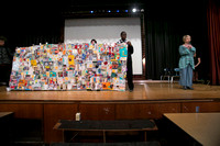 Artist collaborates with Trenton students to create compelling q