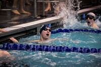 High School boys swimming Notre Dame at Princeton 2015-12-17