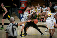 High School girls basketball WW-PS vs South Brunswick  in the Wi