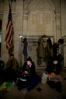 Student protesters camped outside Nassau Hall
