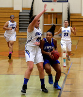 GIRLS BASKETBALL:  Ewing at West Windsor-Plainsboro North 1/23/2015