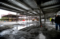 Steel frame of new Trenton Central High School takes shape