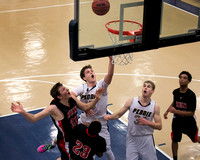 High School boys basketball Hun at Peddie 2016-01-27