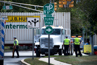 Tractor trailer, car collide on Route 130 in Florence