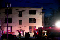 Fire at  Hightstown's vacant rug mill