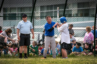 Hamilton police play Mercer High School in softball game to bene