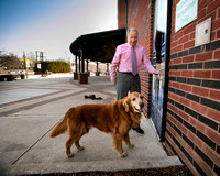Trenton Thunder executive Eric Lipsman arrives for work with bat