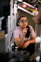 West Windsor Plainsboro Girl Scouts team works out their robot
