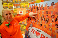 Hamilton ShopRite employees put on Cheerios Box after food bank donations 3/17/2015