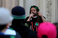 N.J. Weedman and marijuana legalization activists protest outside the Statehouse