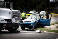 Woman seriously injured in accident with tractor trailer on Rt.