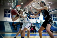 High School girls basketball Princeton Day at Hightstown 2016-02