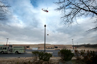 Helicopter helps construction at former Suburban Plaza in Hamilt